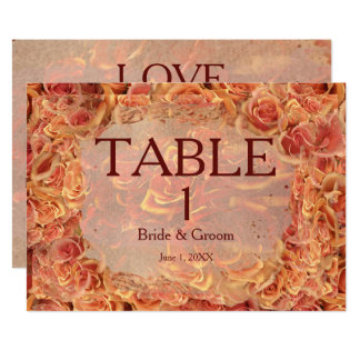 Burning Sand Roses Table Card