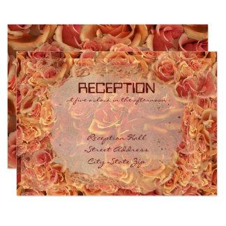 Burning Sand Roses Wedding Reception Card