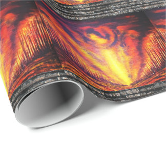 Burning Sky Wrapping Paper