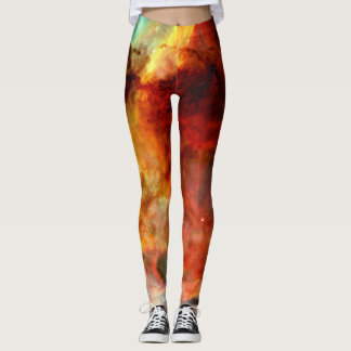 Burning Space Gases Galaxy Leggings