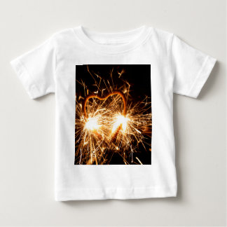 Burning sparkler in form of a heart baby T-Shirt