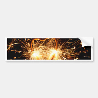 Burning sparkler in form of a heart bumper sticker