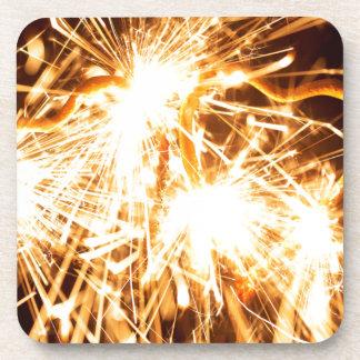 Burning sparkler in form of a heart coaster