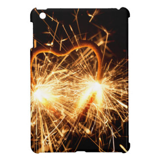Burning sparkler in form of a heart iPad mini cases