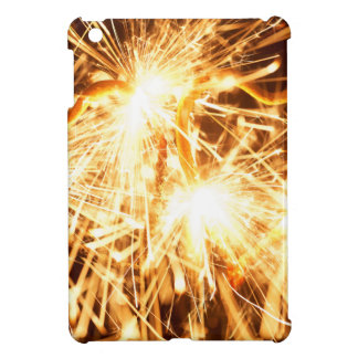Burning sparkler in form of a heart iPad mini cover
