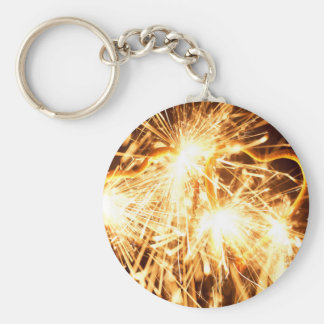 Burning sparkler in form of a heart key ring