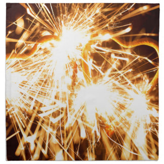 Burning sparkler in form of a heart napkin