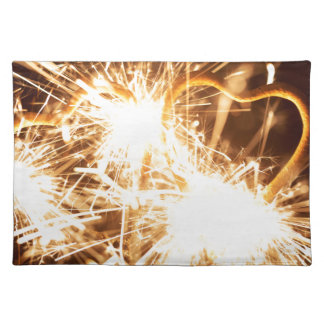 Burning sparkler in form of a heart placemat