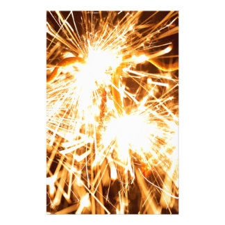 Burning sparkler in form of a heart stationery