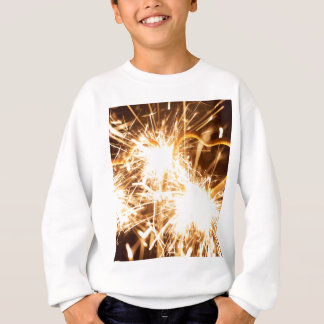 Burning sparkler in form of a heart sweatshirt