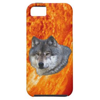 Burning Sun & Grey Wolf iPhone 5 Case