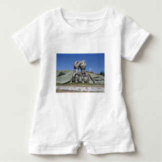Burning torch sculpture Buzludzha monument Baby Bodysuit