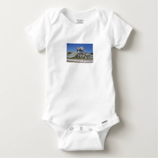 Burning torch sculpture Buzludzha monument Baby Onesie