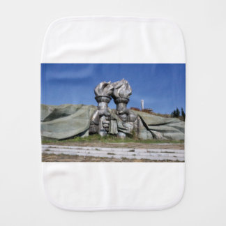 Burning torch sculpture Buzludzha monument Burp Cloth