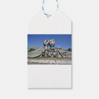 Burning torch sculpture Buzludzha monument Gift Tags