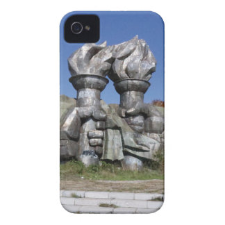 Burning torch sculpture Buzludzha monument iPhone 4 Case-Mate Case