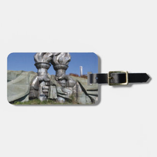 Burning torch sculpture Buzludzha monument Luggage Tag