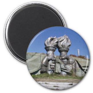 Burning torch sculpture Buzludzha monument Magnet
