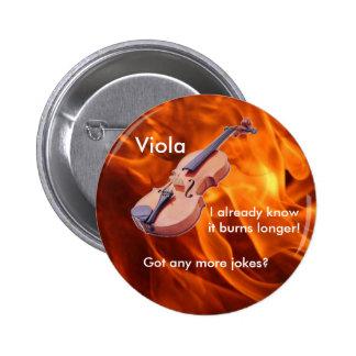 """""""Burning Viola"""" Button"""