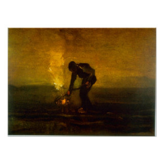 Burning Weeds by Vincent van Gogh Poster