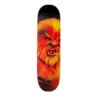 Burning Wolf man Park Board Skate Deck