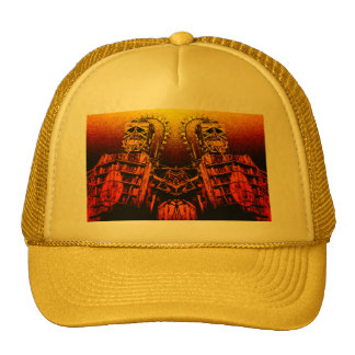 Burning Wooden Men Trucker Hat