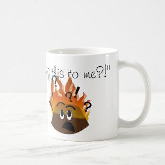 Burning Xmas Pud mug
