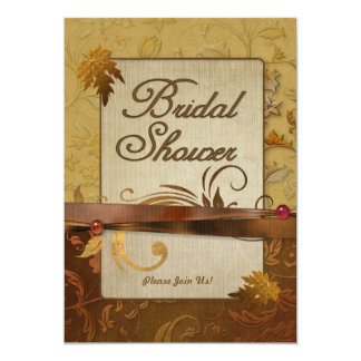 Burnished Autumn Gold Bridal Shower Personalized Invite