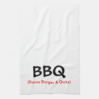 Burns Burger & Quits BBQ Kitchen Towel