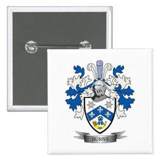 Burns Family Crest Coat of Arms 15 Cm Square Badge