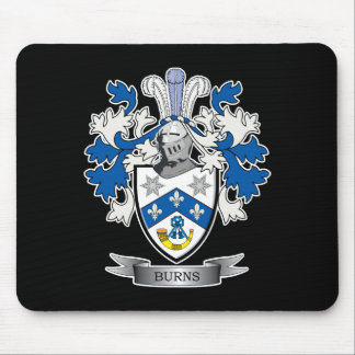 Burns Family Crest Coat of Arms Mouse Pad