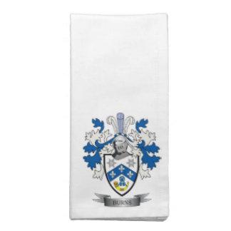 Burns Family Crest Coat of Arms Napkin