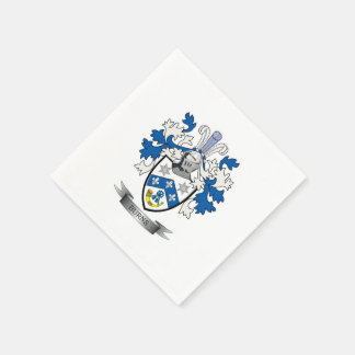 Burns Family Crest Coat of Arms Paper Napkin