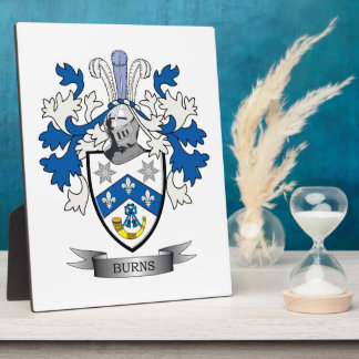 Burns Family Crest Coat of Arms Plaque