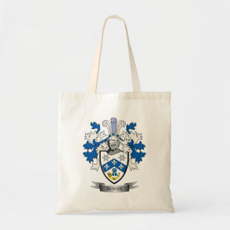 Burns Family Crest Coat of Arms Tote Bag