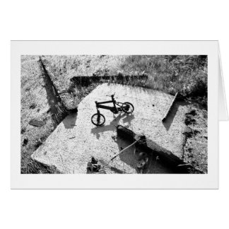 Burnt Bicycle Remains Card