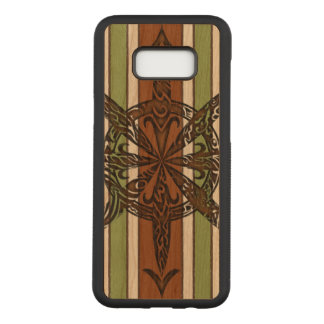 Burnt Chaos Cherry Hardwood Carved Samsung Galaxy S8+ Case