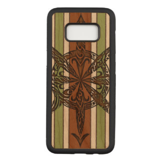 Burnt Chaos Cherry Hardwood Carved Samsung Galaxy S8 Case