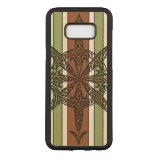 Burnt Chaos Maple Hardwood Carved Samsung Galaxy S8+ Case