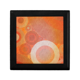 Burnt Faded Orange Retro Pattern Small Square Gift Box