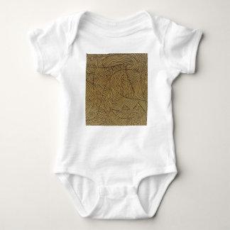 Burnt Gold Rough Start Baby Bodysuit