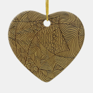 Burnt Gold Rough Start Ceramic Ornament