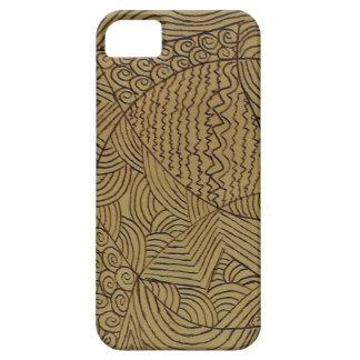 Burnt Gold Rough Start iPhone 5 Cases