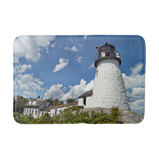 Burnt Island Lighthouse, Boothbay Harbor Maine Bath Mats