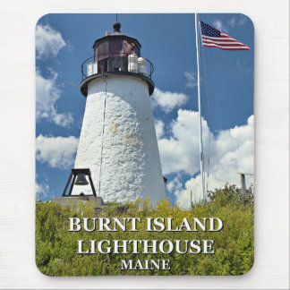 Burnt Island Lighthouse, Maine Mousepad