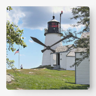 Burnt Island Lighthouse, Maine Wall Clock
