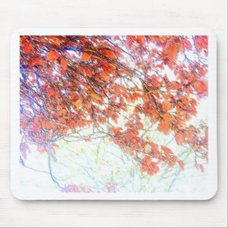 Burnt Ochre Pastels Tree Mouse Pad