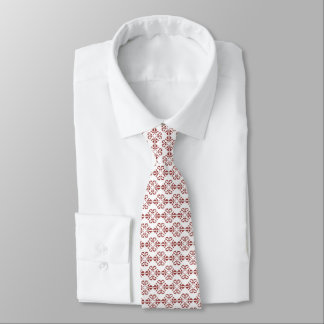 Burnt ombre damask patterened tie