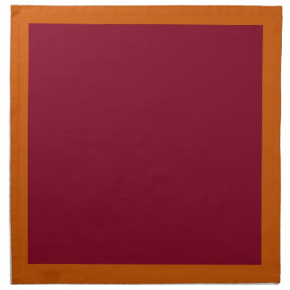 Burnt Orange and Burgundy Napkins