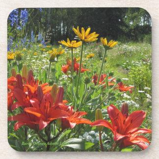 Burnt Orange Asiatic Lilies Summer Garden Coaster